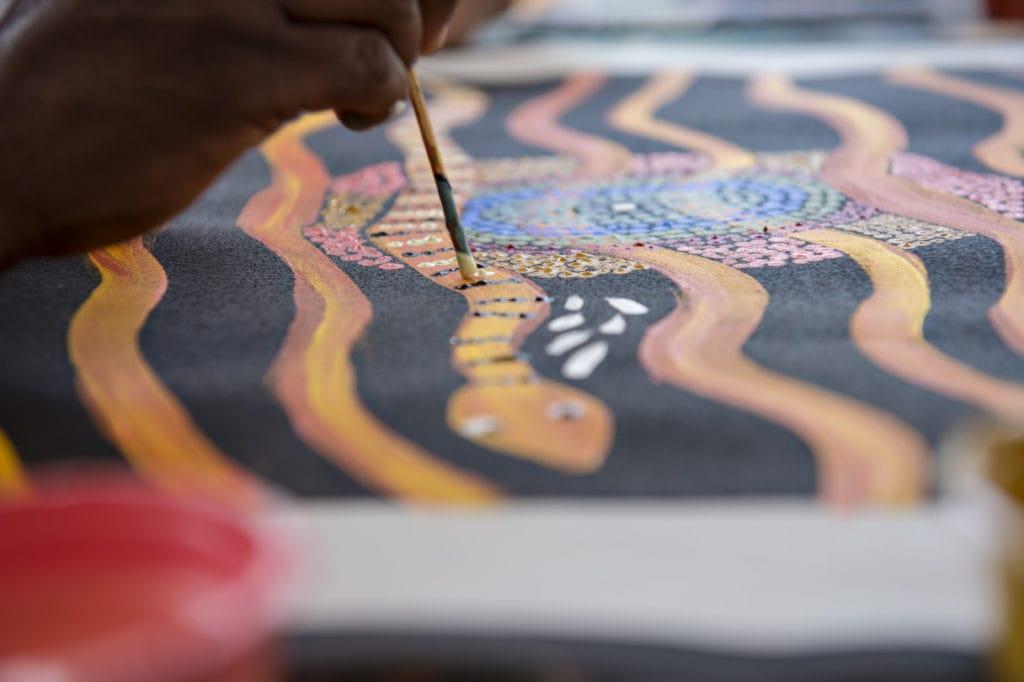 Maruku Arts Dot Painting Workshop Yulara Red Dirt Rentals