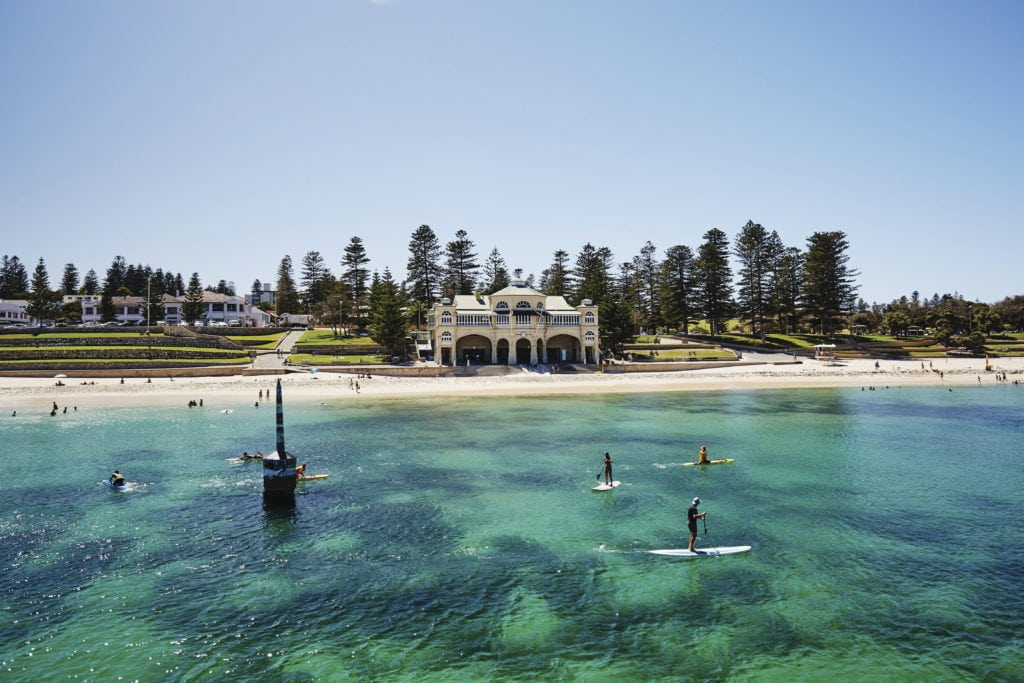 Aerial view of Cottesloe Beach Red Dirt 4WD Rentals