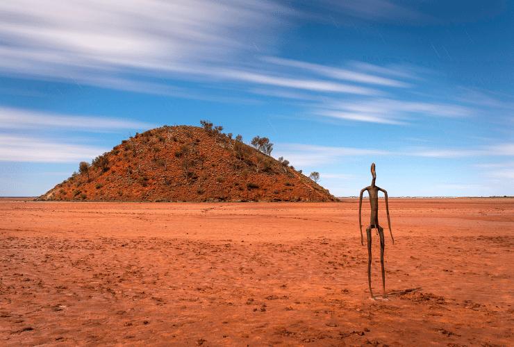 Antony Gormley Sculptures at Lake Ballard Tourism Western Australia Red Dirt 4WD Rentals
